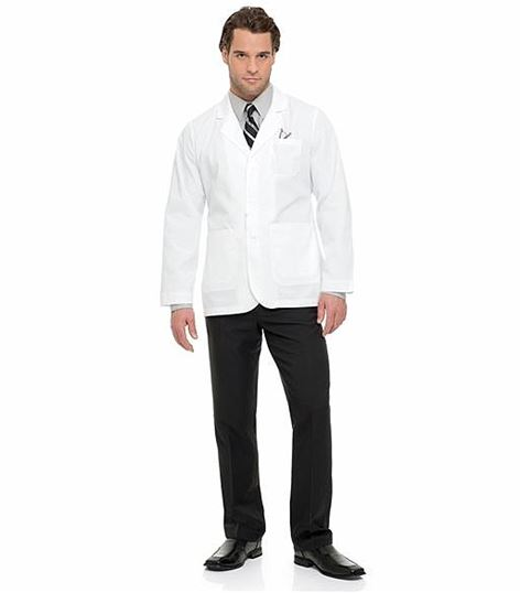 "Landau Men's 30"" White Lab Jacket-3224"