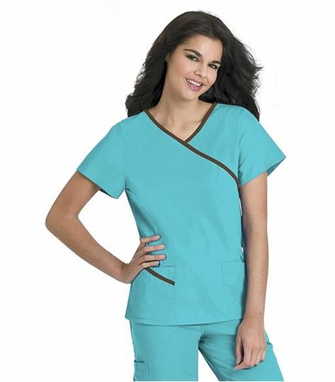 Urbane Contrast Wrap Around Tunic 9568