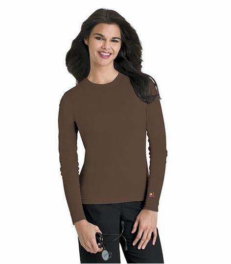 Urbane Women's Longs Sleeves Underscrub Knit Tee-9535
