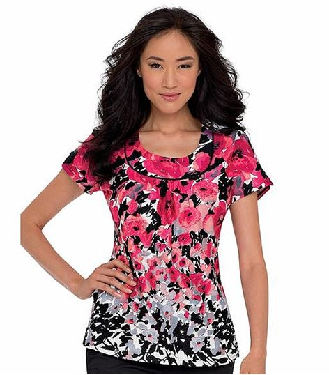 Landau Banded U-neck Top 4059
