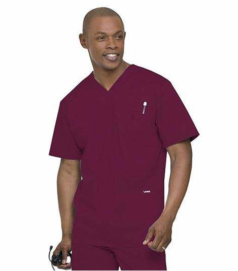 Landau Men's Stretch 4 Pocket Scrub Top-4065