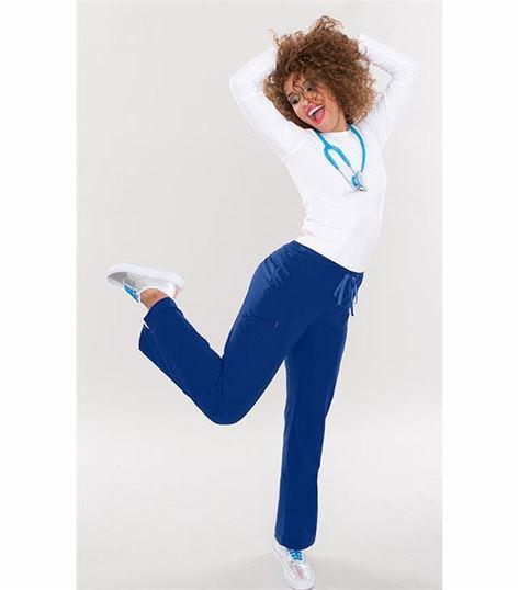 Smitten Women's Elastic Drawstring  Cargo Scrub Pants-S201003