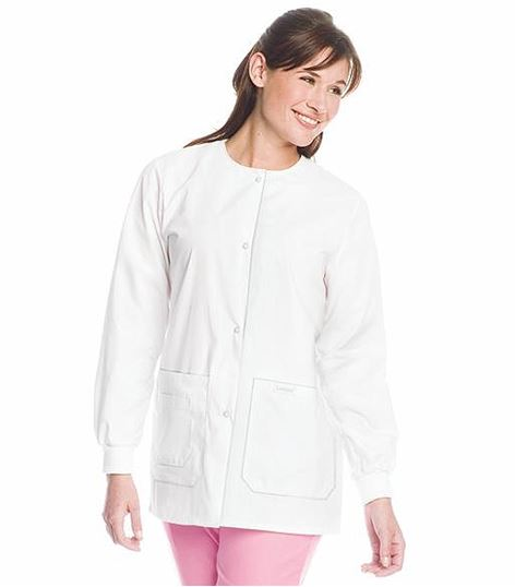 Landau Women's Warm-Up Scrub Jacket With Drawstring Back-7533