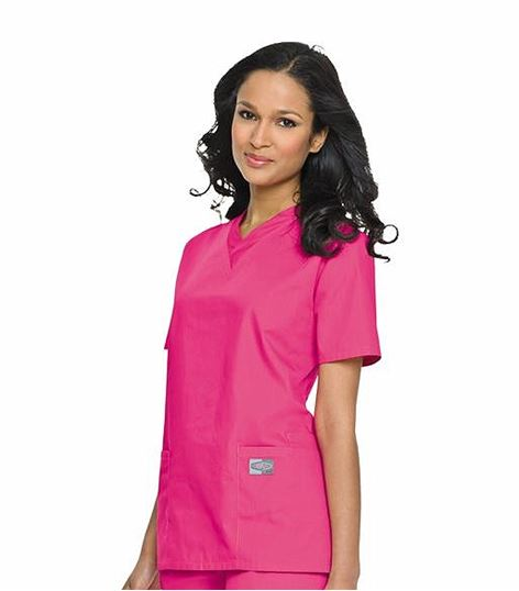 ScrubZone by Landau Women's Solid V-Neck Scrub Top-70221