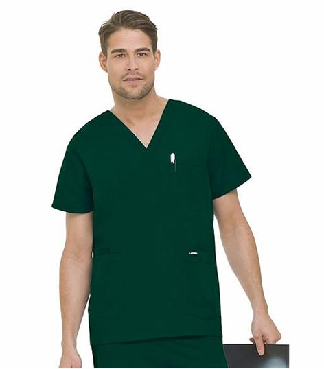 Landau Mens 5 Pocket Scrub Top 7489