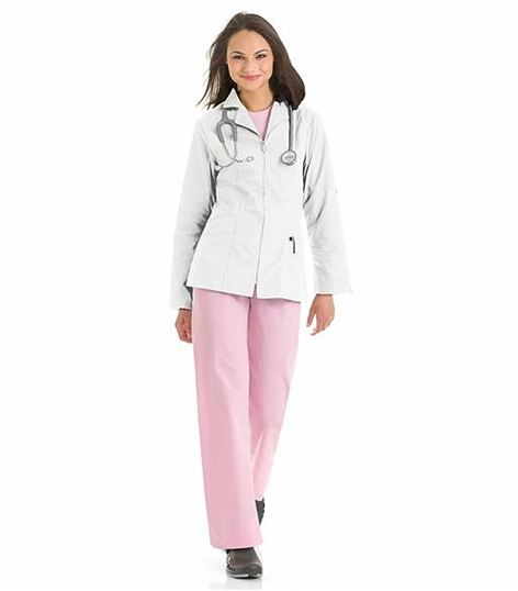 Urbane Women's Zip Front Lab Jacket-3109