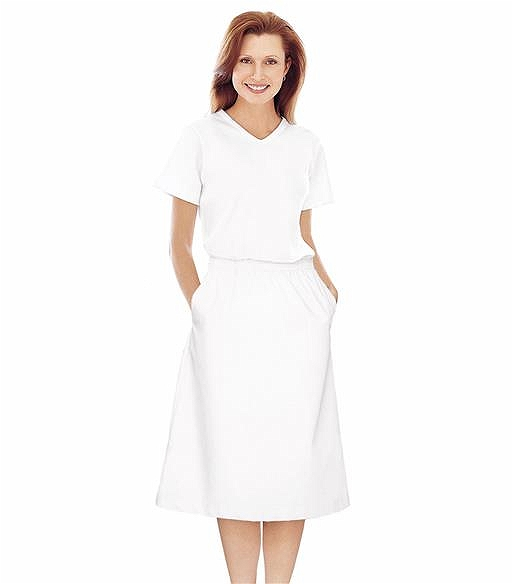 Landau White A-Line Scrub Skirt-2226