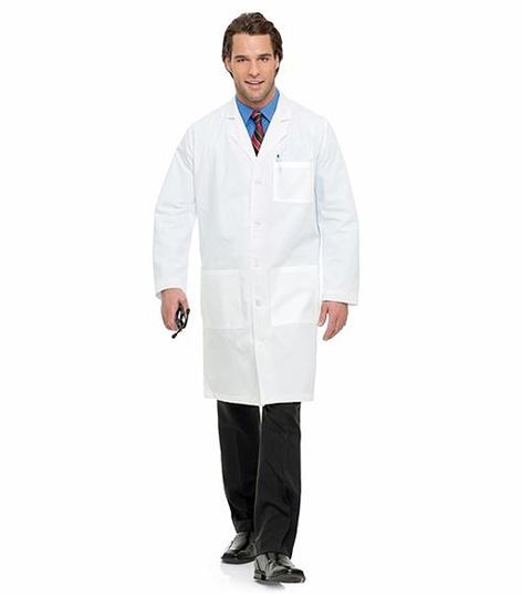 Landau Straight Back 5 Button Mens Lab Coat 3145