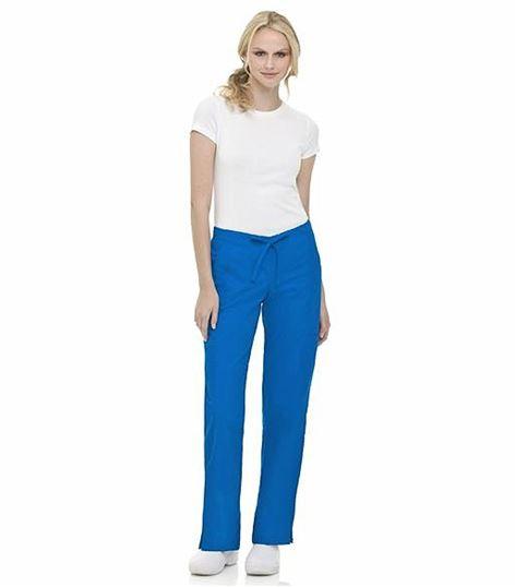 Landau Women's Straight Leg Drawstring Cargo Scrub Pants-8385