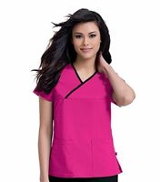 Urbane Women's Mandi Crossover Solid Scrub Top-9407