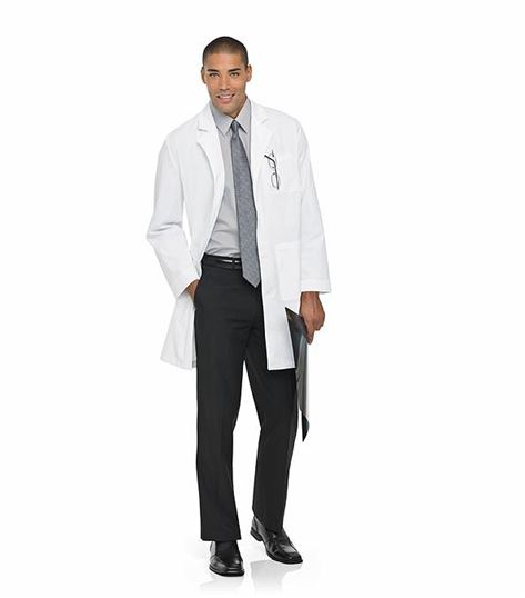 "Landau Unisex 39"" Long White Lab Coat-3187"