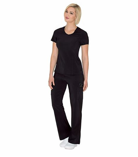 Urbane Women's Solid Surplice Scrub Top-9014