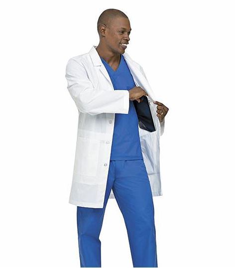 Landau Mens Notebook Lab Coat 3174