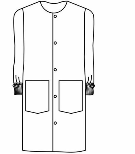 "Landau Unisex 41"" Long White Snap Front Lab Coat-3178"