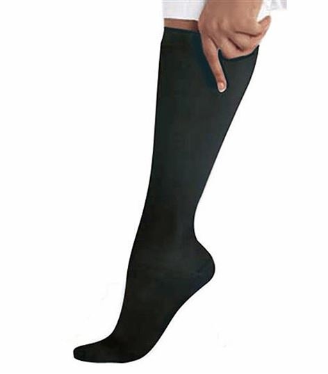 Landau Black Compression Knee Socks With Non-Binding Band-14317