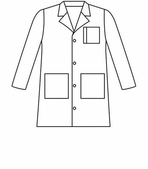Landau 4 Button Mens Lab Coat With 3 Front Pockets 3163