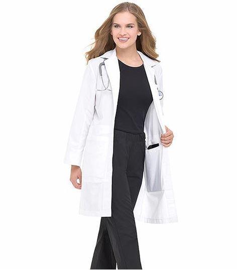 """Landau Women's 36"""" Long Traditional White Lab Coat-3165"""