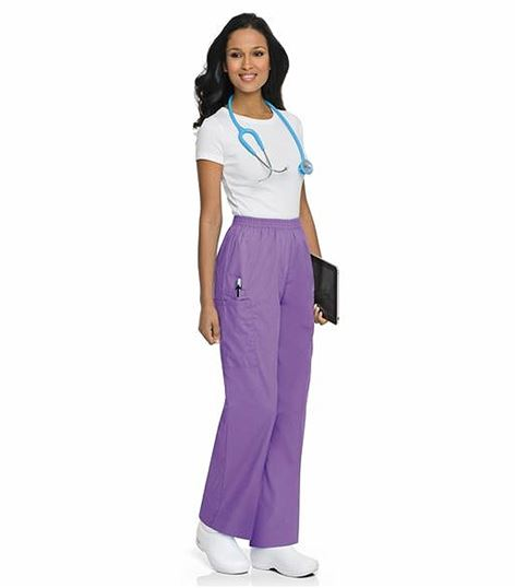 ScrubZone by Landau Women's Pull On Cargo Scrub Pants-83221