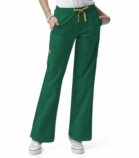 WonderWink Four-Stretch Women's Elastic Waist Cargo Scrub Pants-5214