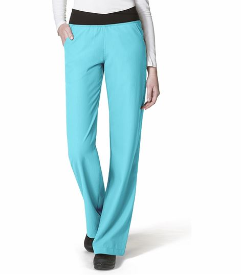WonderWink Easy Fit No-Roll Knit Waist Pant 5225