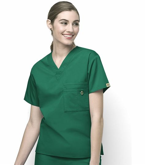 WonderWink Origins Unisex Solid V-Neck Scrub Top-6006