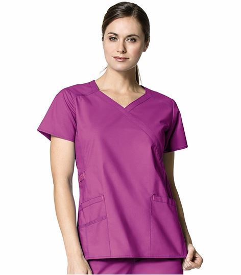 WonderWink WonderFLEX Women's Mock Wrap Fashion Scrub Top-6308