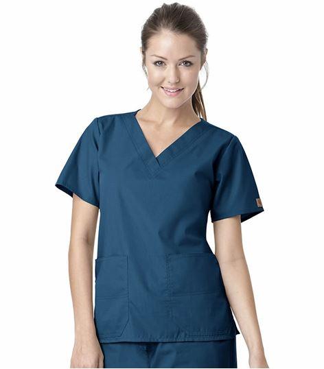 Carhartt Premium Women's Solid V-Neck Scrub Top-C10101