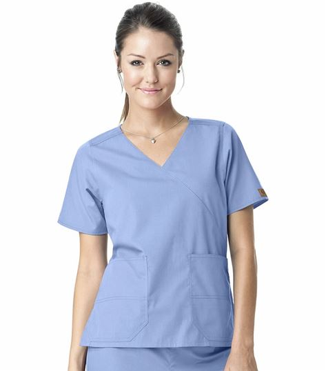 Carhartt Premium Women's Solid Mock Wrap Scrub Top-C10201