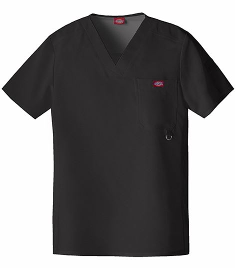 Dickies Xtreme Stretch Men's Solid V-Neck Scrub Top-81910