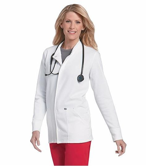 WorkFlow by Landau Unisex Fleeced Lined Warm-Up Scrub Jacket-3504