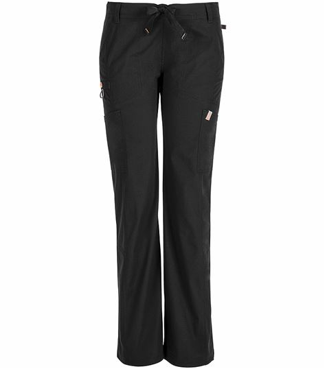 Code Happy Women's Straight Leg Low-Rise Cargo Scrub Pants-46000A