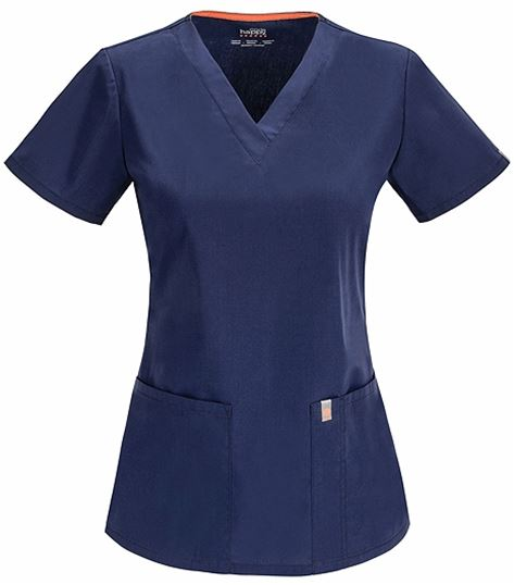 Code Happy Women's V-Neck Solid Scrub Top-46607A