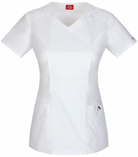 Dickies GenFlex Women's  V-Neck Solid Fashion Scrub Top-85812
