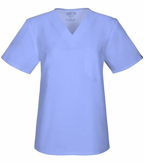 Cherokee Workwear Unisex V-Neck Solid Scrub Top-34777A