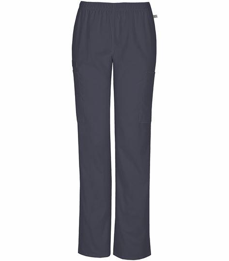 Cherokee Workwear Women's Elastic Waist Cargo Scrub Pants-44200A