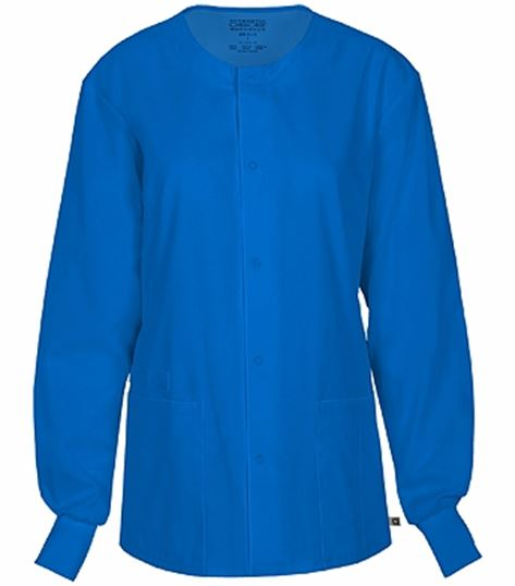 Cherokee Workwear Unisex Snap Front Warm-Up Scrub Jacket-34350A