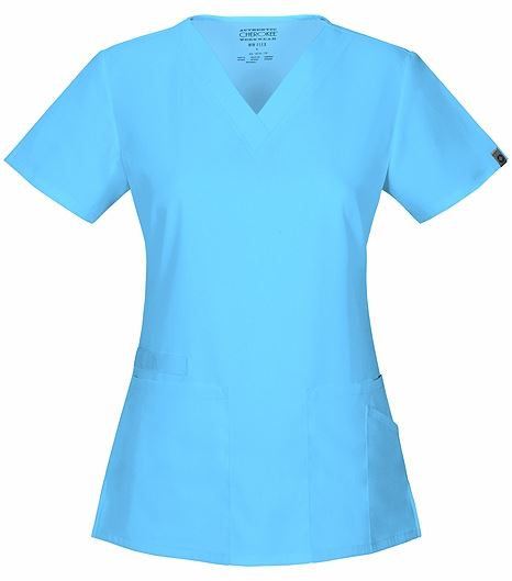 Cherokee Workwear Women's V-Neck Solid Scrub Top-44700A