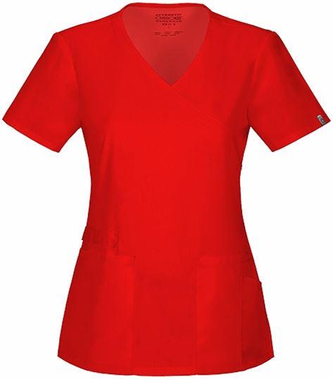 Cherokee Workwear Women's Mock Wrap Solid ScrubTop-44801A