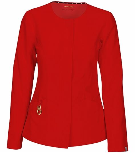 HeartSoul Women's Button Front Warm Up Scrub Jacket 20601A