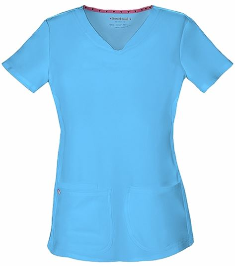 HeartSoul Shaped V-Neck Solid Scrub Top-20710