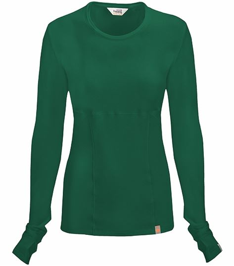 Code Happy Women's Long Sleeve Underscrub Knit Tee-46608A
