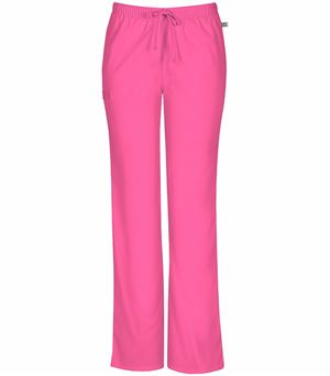 Cherokee Workwear Mid-rise Moderate Flare Drawstring Pant 44101A