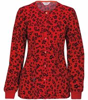 Code Happy Women's Print Warm-Up Scrub Jacket-46303A