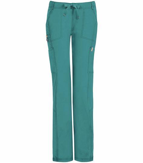 Code Happy Women's Low-Rise Drawstring Cargo Scrub Pants-46000AB