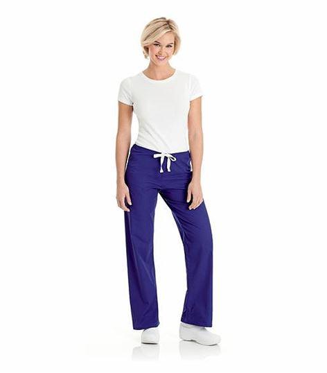 Urbane Women's Straight Leg Drawstring Scrub Pants-9502