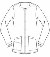 Urbane Women's Button Front Warm-Up Scrub Jacket-9871