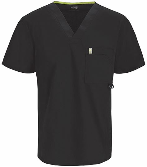 Code Happy Men's Antimicrobial V-Neck Scrub Top-16600AB