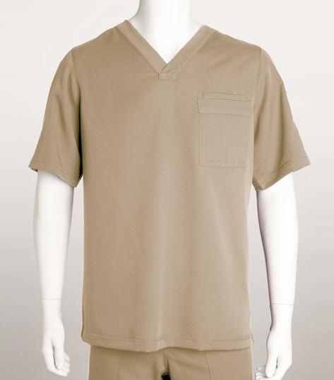 Grey's Anatomy Men's V-Neck Solid Scrub Top-0103
