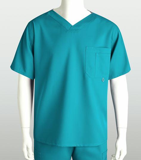 Grey's Anatomy Men's High V-Neck Scrub Top-0107