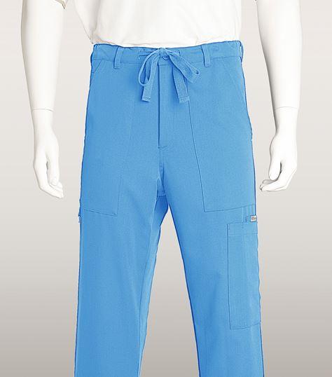 Grey's Anatomy Men's Zip Fly Drawstring Cargo Scrub Pants-0203